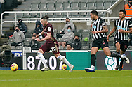 Leeds United midfielder Jack Harrison (22) during the Premier League match between Newcastle United and Leeds United at St. James's Park, Newcastle, England on 26 January 2021.