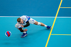 Steven Ottevanger #8 of Lycurgus in action during the supercup final between Amysoft Lycurgus - Active Living Orion on October 04, 2020 in Van der Knaaphal, Ede