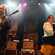 Washington, D.C., - April 24, 2010:  Acclaimed British electropop band Hot Chip perform in front of a sold out crowd at the 9:30 Club. (Photo by Kyle Gustafson)