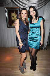 Left to right, Maria Hatzistefanis and YASMIN MILLS  at The Rodial Beautiful Awards in aid of the charity Kids Company held in the Billiard Room at The Sanderson, 50 Berners Street, London on 3rd February 2010.
