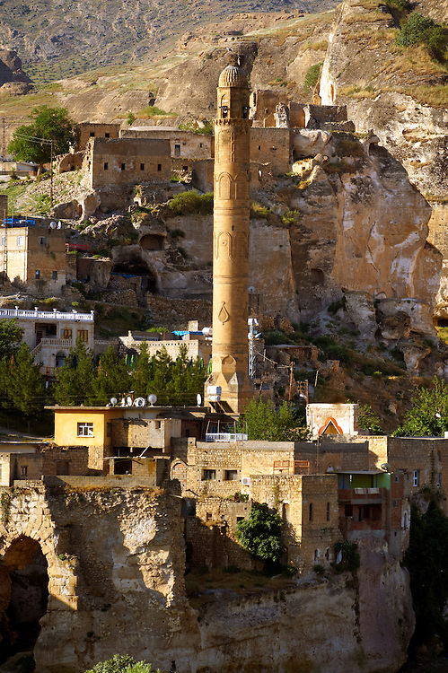 El Rizk Mosque – The Mosque was built in 1409 by the Ayyubid sultan Süleyman and stands on the bank of the Tigris River. It has Kufic incriptions & decorations. Hasankeyf, Turkey 9 .<br /> <br /> If you prefer to buy from our ALAMY PHOTO LIBRARY  Collection visit : https://www.alamy.com/portfolio/paul-williams-funkystock/hasankeyf-turkey.html<br /> <br /> Visit our PHOTO COLLECTIONS OF TURKEY HISTOIC PLACES for more photos to download or buy as wall art prints https://funkystock.photoshelter.com/gallery-collection/Pictures-of-Turkey-Turkey-Photos-Images-Fotos/C0000U.hJWkZxAbg