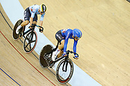 Women Points Race, Maria Giulia Confalonieri (Italy), Lotte Kopecky (Belgium) during the Track Cycling European Championships Glasgow 2018, at Sir Chris Hoy Velodrome, in Glasgow, Great Britain, Day 3, on August 4, 2018 - Photo Luca Bettini / BettiniPhoto / ProSportsImages / DPPI
