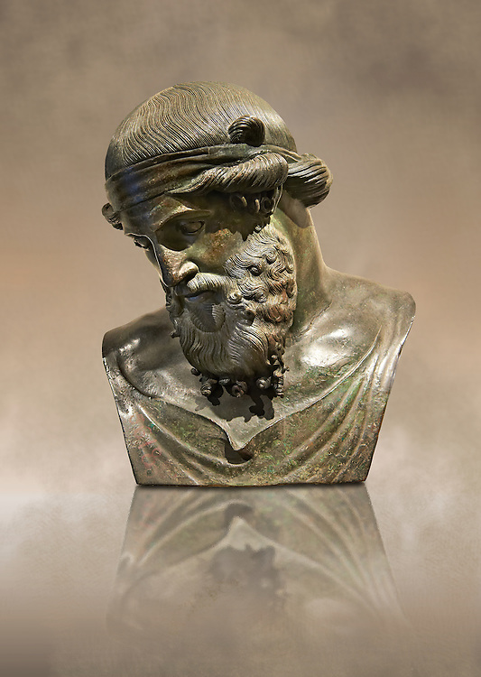 Roman bronze sculpture of Dinoysus - Plato, Naples Museum of Archaeology, Italy ..<br /> <br /> If you prefer to buy from our ALAMY STOCK LIBRARY page at https://www.alamy.com/portfolio/paul-williams-funkystock/greco-roman-sculptures.html . Type -    Naples    - into LOWER SEARCH WITHIN GALLERY box - Refine search by adding a subject, place, background colour, museum etc.<br /> <br /> Visit our ROMAN WORLD PHOTO COLLECTIONS for more photos to download or buy as wall art prints https://funkystock.photoshelter.com/gallery-collection/The-Romans-Art-Artefacts-Antiquities-Historic-Sites-Pictures-Images/C0000r2uLJJo9_s0