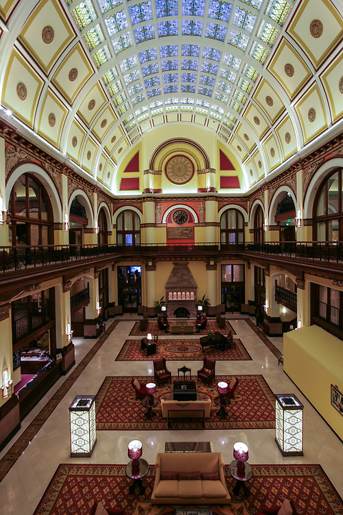 Union Station hotel in Nashville, Tennessee, USA. An old railway station transformed into luxury hotel is a home for many celebrities during Country Music Festival.