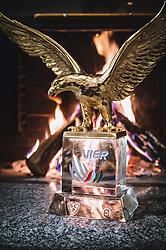THEMENBILD - die Pokal des Gesamtsiegers der Vierschanzentournee vor einem Kaminofen, aufgenommen am 19. Dezember 2019, Engelberg Schweiz // the trophy of the overall winner of the Four Hills Tournament in front of a fireplace, Engelberg, Switzerland on 2019/12/19. EXPA Pictures © 2019, PhotoCredit: EXPA/ JFK
