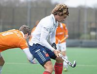 BLOEMENDAAL - Hockey.  Jesse van Minde (Tilburg) Bloemendaal HI-Tilburg HI, oefenwedstrijd.    COPYRIGHT  KOEN SUYK