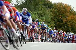 Peloton during the Men´s Under 23 Road Race on day five of the UCI Road World Championships on September 23, 2011 in Copenhagen, Denmark. (Photo by Marjan Kelner / Sportida Photo Agency)