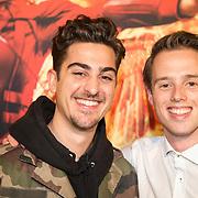 NLD/Amsterdam/20151116 - Filmpremiere The Hunger Games: Mokingjay-part 2, Marius Gottlieb en Sebastiaan Wulff