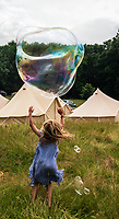 ids playing with bubbles at the Also Festival 2021 at Cpmton Verney,photo by Mark Anton Smith<br /> .