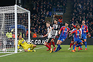 GOAL 1-0 Crystal Palace striker turns to celebrate after his goal during the The FA Cup 3rd round match between Crystal Palace and Grimsby Town FC at Selhurst Park, London, England on 5 January 2019.