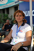 Plovdiv BULGARIA.  Romanian rowing multi  Gold Medalist, Elisabeta LIPA - OLENIUC   at the medal ceremony women's single sculls .   2011 FISA European Rowing Championships, Plovdiv Rowing Centre   Sunday  18/09/2011  [Mandatory Credit; Peter Spurrier: Intersport Images]  Original Camera File No.  2011011992.jpg