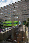 The Aylesbury Estate on 17th September 2015 in South London, United Kingdom. The Aylesbury Estate is a large housing estate located in Walworth, South East London. It contains 2,704 dwellings and was built between 1963 and 1977. The whole estate is currently undergoing a major redevelopment.