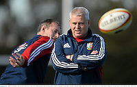 28 June 2013; British & Irish Lions head coach Warren Gatland and assistant Rob Howley, left, during the captain's run ahead of their 2nd test match against Australia on Saturday. British & Irish Lions Tour 2013, Captain's Run. Scotch College, Hawthorn, Melbourne, Australia. Picture credit: Stephen McCarthy / SPORTSFILE