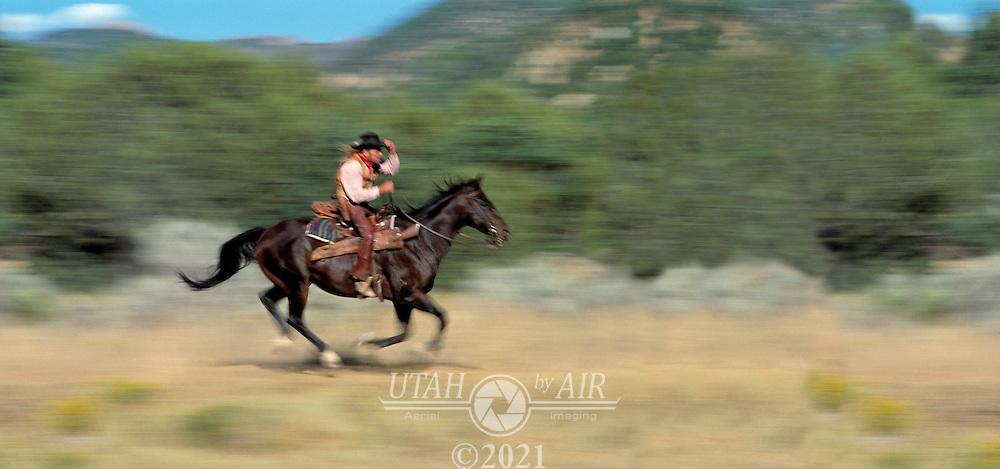 Pony Express Rider on horse