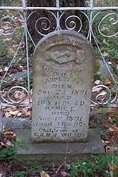 Old Gravestone, San Juan Island, Washington, US