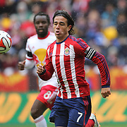 Mauro Rosales, Chivas USA, in action during the New York Red Bulls V Chivas USA, Major League Soccer regular season match at Red Bull Arena, Harrison, New Jersey. USA. 30th March 2014. Photo Tim Clayton