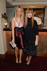 Left to right, MARTHA WARD and DEBORAH LLOYD at a dinner hosted by fashion label Kate Spade NY held at George, 87-88 Mount Street, London on 19th November 2014.