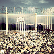 At the southwestern corner of Russia, a fence along the Black Sea blocks the border to Abkhazia on Tuesday, Feb. 25, 2014. Sochigrams during the Winter Olympics in Sochi, Russia with an iPhone and Instagram. (Brian Cassella/Chicago Tribune) B583527420Z.1 <br /> ....OUTSIDE TRIBUNE CO.- NO MAGS,  NO SALES, NO INTERNET, NO TV, CHICAGO OUT, NO DIGITAL MANIPULATION...