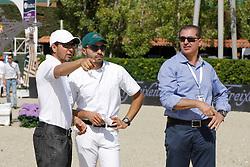 Khaled al Eid, Al Shalan Prince Faisal,  Ziyad Abduljawal<br /> Furusiyya FEI Nations Cup Jumping Final Round 1<br /> CSIO Barcelona 2013<br /> © Dirk Caremans