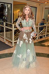 ABI CLARKE at the 6th annual Asian Awards held at The Grosvenor House Hotel, Park Lane, London on 8th April 2016.