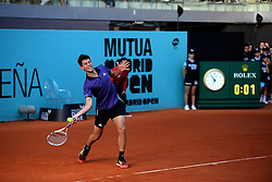 May 5, 2019 - Madrid, Spain - Successful start for Dominic Thiem (AUT)  in doubles in his match against Marrero and Verdasco (SPA) during day two of the Mutua Madrid Open at La Caja Magica in Madrid on 5th May, 2019. (Credit Image: © Juan Carlos Lucas/NurPhoto via ZUMA Press)