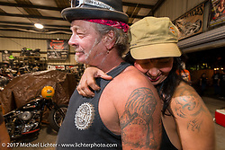 Phil Zee at Bill Dodge's Blings Cycle shop during Biketoberfest. Daytona Beach, FL, USA. Friday October 20, 2017. Photography ©2017 Michael Lichter.