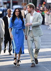 The Duke and Duchess of Sussex arrive at the District 6 Homecoming Centre where they were met by a small group of former residents., Cape Town, South Africa. Photo credit should read: Doug Peters/EMPICS
