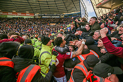 March 10, 2019 - Birmingham, England, United Kingdom - Aston Villa fans celebrate Jack Grealishs goal during the Sky Bet Championship match between Birmingham City and Aston Villa at St Andrews, Birmingham on Sunday 10th March 2019. (Credit Image: © Mi News/NurPhoto via ZUMA Press)