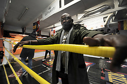 South Africa - Cape Town - 17 August 2020 - Comando Kalekuzi, owner of Pound for Pound Boxing gym in Bree Street, says he is very glad theymay open again. Gyms that survived the lockdown thisfar are preparing to open their doors again tomorrow as regulations under Lockdown Level 2 comes intoeffect. Photographer: Armand Hough/African News Agency(ANA)