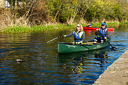 Pictured: <br />Scottish Greens co-leader Lorna Slater joined Green councillor Gavin Corbett and volunteers in clearing litter from the Union Canal to highlight the need for phasing out pointless plastics and bringing forward Scotland's long delayed deposit return scheme.<br />Ger Harley | EEm 25 April 2021
