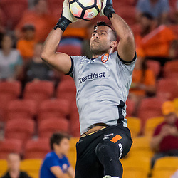BRISBANE, AUSTRALIA - APRIL 2: Jamie Young of the Roar warms up before the round 25 Hyundai A-League match between the Brisbane Roar and Central Coast Mariners at Suncorp Stadium on April 2, 2017 in Brisbane, Australia. (Photo by Patrick Kearney/Brisbane Roar)