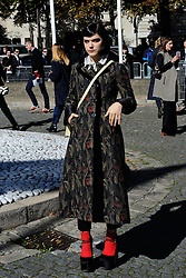 Soko attending the Miu Miu show as a part of Paris Fashion Week Ready to Wear Spring/Summer 2017 in Paris, France on October 05, 2016. Photo by Aurore Marechal/ABACAPRESS.COM