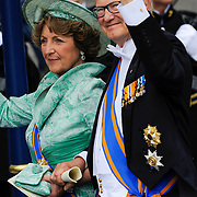 NLD/Amsterdam/20130430 - Inhuldiging Koning Willem - Alexander, princess Margarita and her partner Mr. Pieter van Vollenhoven