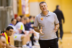 Ivica Obrvan, head coach of Macedonia during friendly handball match between National Teams of Slovenia and F.Y.R. of Macedonia on December 28, 2013 in Sports hall Polaj, Trbovlje, Slovenia. Photo by Vid Ponikvar / Sportida