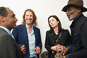 ROUBI L'ROUBI; PIERRE LAGRANGE; FRANCESCA AMFITEROF, Opening of Dairy with Quicksand- John M. Armleder. Dairy art Centre. ~Bloomsbury. 24 April 2013.