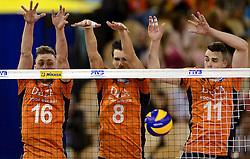 01-06-2014 NED: WLV Nederland - Zuid Korea, Eindhoven <br /> (L-R) Robin Overbeeke, Bas van Bemmelen, Dick Kooy