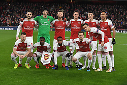 March 14, 2019 - London, England, United Kingdom - Arsenal Team Shoot.during Europa League Round of 16 2nd Leg  between Arsenal and Rennes at Emirates stadium , London, England on 14 Mar 2019. (Credit Image: © Action Foto Sport/NurPhoto via ZUMA Press)