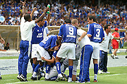 Belo Horizonte_MG, Brasil...Jogadore do Cruzeiro na final do Campeonato Brasileiro 2003...The Cruzeiro soccer player at the end of Brazilian Football Championship 2003...Foto: LEO DRUMOND / NITRO