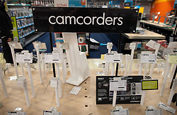 © Licensed to London News Pictures. 07/08/2011. Tottenham, UK. Destruction and looting inside Comet at Tottenham retail park after riots spread from Tottenham High Road and looters raided shops. Televisions, cameras and other expensive products were stolen en masse by 100s of looters. Photo credit : Joel Goodman/LNP