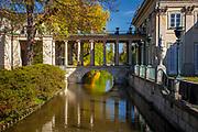 Łazienki Królewskie - Pałac na Wodzie w Łazienkach, Warszawa, Polska<br /> Royal Baths Park - Palace on the Water in Łazienki, Warsaw, Poland