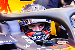 February 18, 2019 - Barcelona, Barcelona, Spain - Max Verstappen from Nederland with 33 Aston Martin Red Bull Racing - Honda RB15 portrait in his car during the Formula 1 2019 Pre-Season Tests at Circuit de Barcelona - Catalunya in Montmelo, Spain on February 18, 2019. (Credit Image: © Xavier Bonilla/NurPhoto via ZUMA Press)
