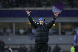 March 4, 2018 - Antwerp, BELGIUM - Jos Van Hout celebrates after a soccer game between KFCO Beerschot Wilrijk and Cercle Brugge, in Antwerp, Saturday 03 March 2018, the first leg match of the division 1B Proximus League competition final of the Belgian soccer championship. BELGA PHOTO KRISTOF VAN ACCOM (Credit Image: © Kristof Van Accom/Belga via ZUMA Press)
