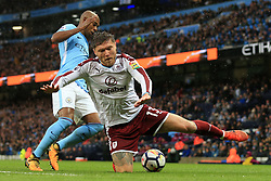 21st October 2017 - Premier League - Manchester City v Burnley - Fernandinho of Man City battles with Jeff Hendrick of Burnley - Photo: Simon Stacpoole / Offside.