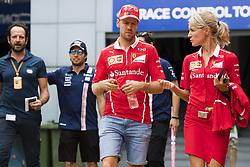 August 31, 2017 - Monza, Italy - Motorsports: FIA Formula One World Championship 2017, Grand Prix of Italy, ..#5 Sebastian Vettel (GER, Scuderia Ferrari), Britta Roeske (GER, Scuderia Ferrari) (Credit Image: © Hoch Zwei via ZUMA Wire)