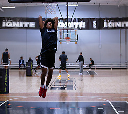 G League Ignite's MarJon Beauchamp practices with the team on Tuesday, Sept. 28, 2021 in Walnut Creek, Calif.