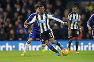 Georginio Wijnaldum of Newcastle United in action. Barclays Premier league match, Chelsea v Newcastle Utd at Stamford Bridge in London on Saturday 13th February 2016.<br /> pic by John Patrick Fletcher, Andrew Orchard sports photography.