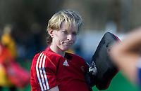 AMSTELVEEN -  Adinda Boeren van Pinoke na de competitiewedstrijd van de hoofdklasse hockey tussen de vrouwen van Pinoke en Den Bosch (0-6). COPYRIGHT KOEN SUYK