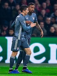 12-12-2018 NED: Champions League AFC Ajax - FC Bayern Munchen, Amsterdam<br /> Match day 6 Group E - Ajax - Bayern Munchen 3-3 / Robert Lewandowski #9 of Bayern Munich, Jerome Boateng #17 of Bayern Munich