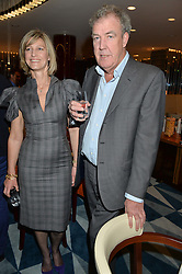 NICOLA FORMBY and JEREMY CLARKSON at a dinner hosted by AA Gill & Nicola Formby in support of the Borne charity held at Rivea at the Bulgari Hotel, Knightsbridge, London on 3rd February 2015.