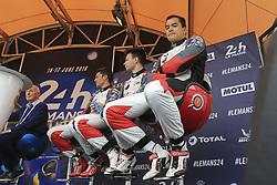 June 11, 2018 - Le Mans, FRANCE - 28 TDS RACING (FRA) ORECA 07 GIBSON LMP2 FRANÇOIS PERRODO (FRA) MATTHIEU VAXIVIERE (FRA) LOIC DUVAL  (Credit Image: © Panoramic via ZUMA Press)